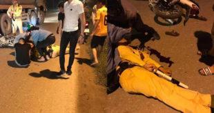 Thiếu tá CSGT bị tông gục khi đang giữ xe