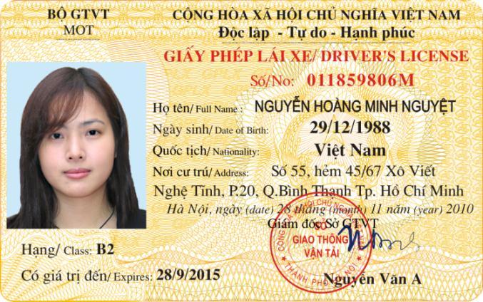 Chuyển đổi bằng lái xe ô tô quốc tê