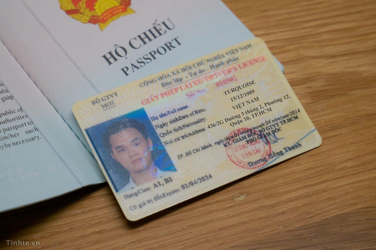 Mẫu bằng lái xe Việt Nam sau khi đổi từ bằng lái xe Đài Loan sang Việt Nam