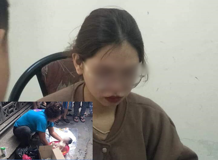 Nữ sinh bỏ con vào thùng rác tại Hà Nội