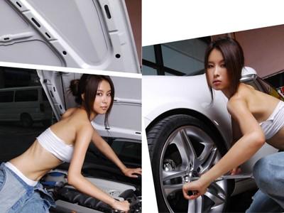 Cô nàng sửa xe nóng bỏng